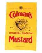 Exclusive Mustard Label Teatowel