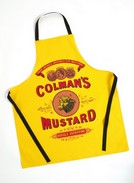 Exclusive Mustard Label Cotton Apron