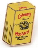 Colman's Lapel Badge - Tin